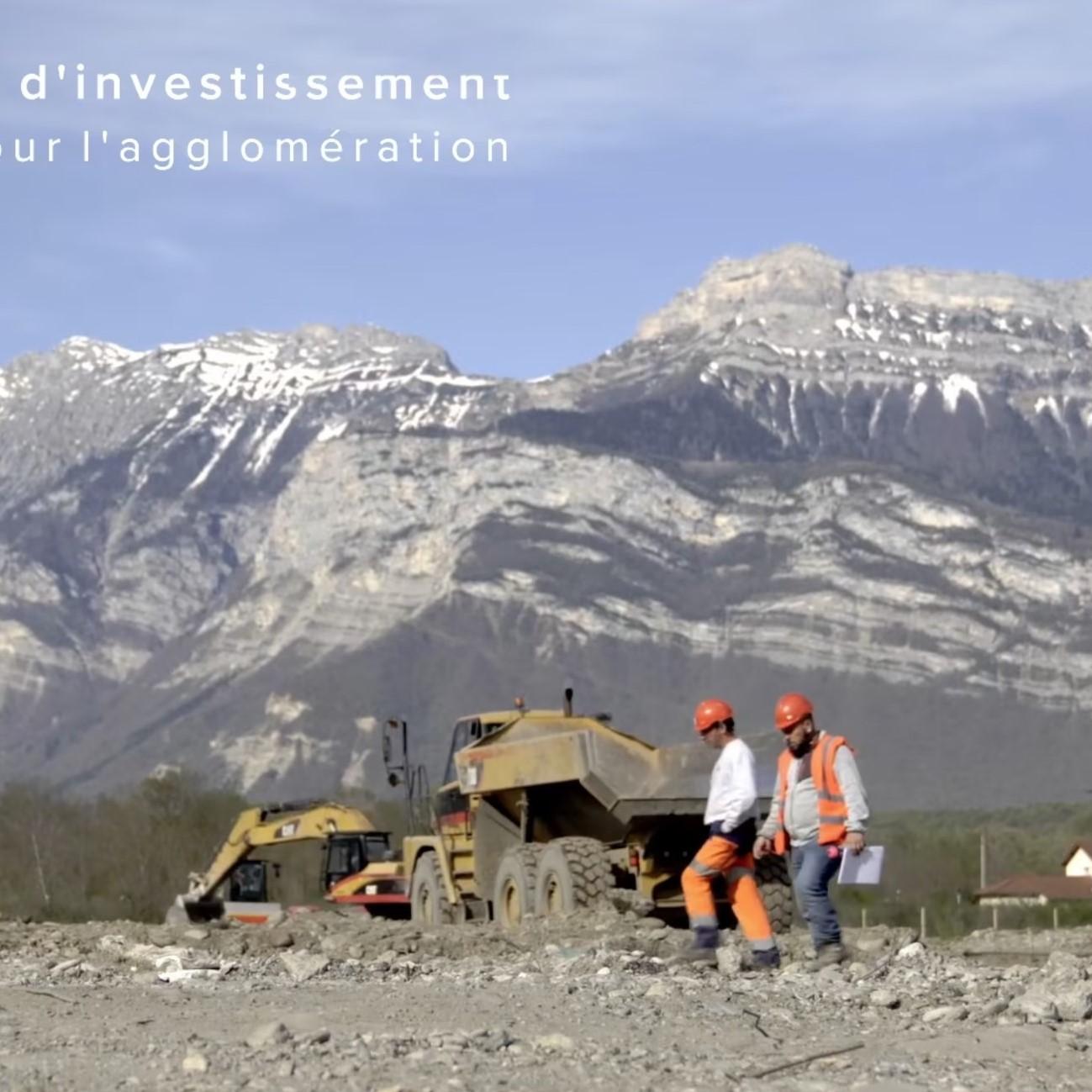 Suivi de chantier video de l'usine Aledia à Champagnier